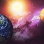imagem de simulação de Projeção Consciente para fora da Terra - Exoprojeção